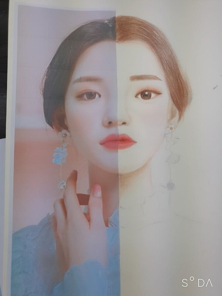 연예인 잡지 일러스트